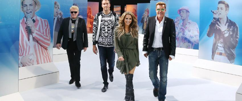 Heino, DJ Antoine, Mandy Capristo and Dieter Bohlen in Deutschland sucht den Superstar
